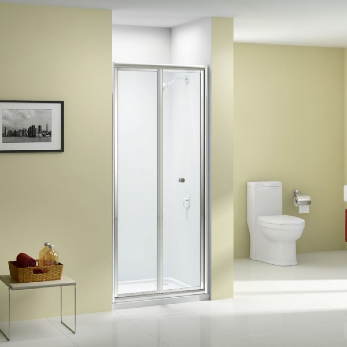 Merlyn Ionic Source Bifold Shower Door with Optional Side Panel