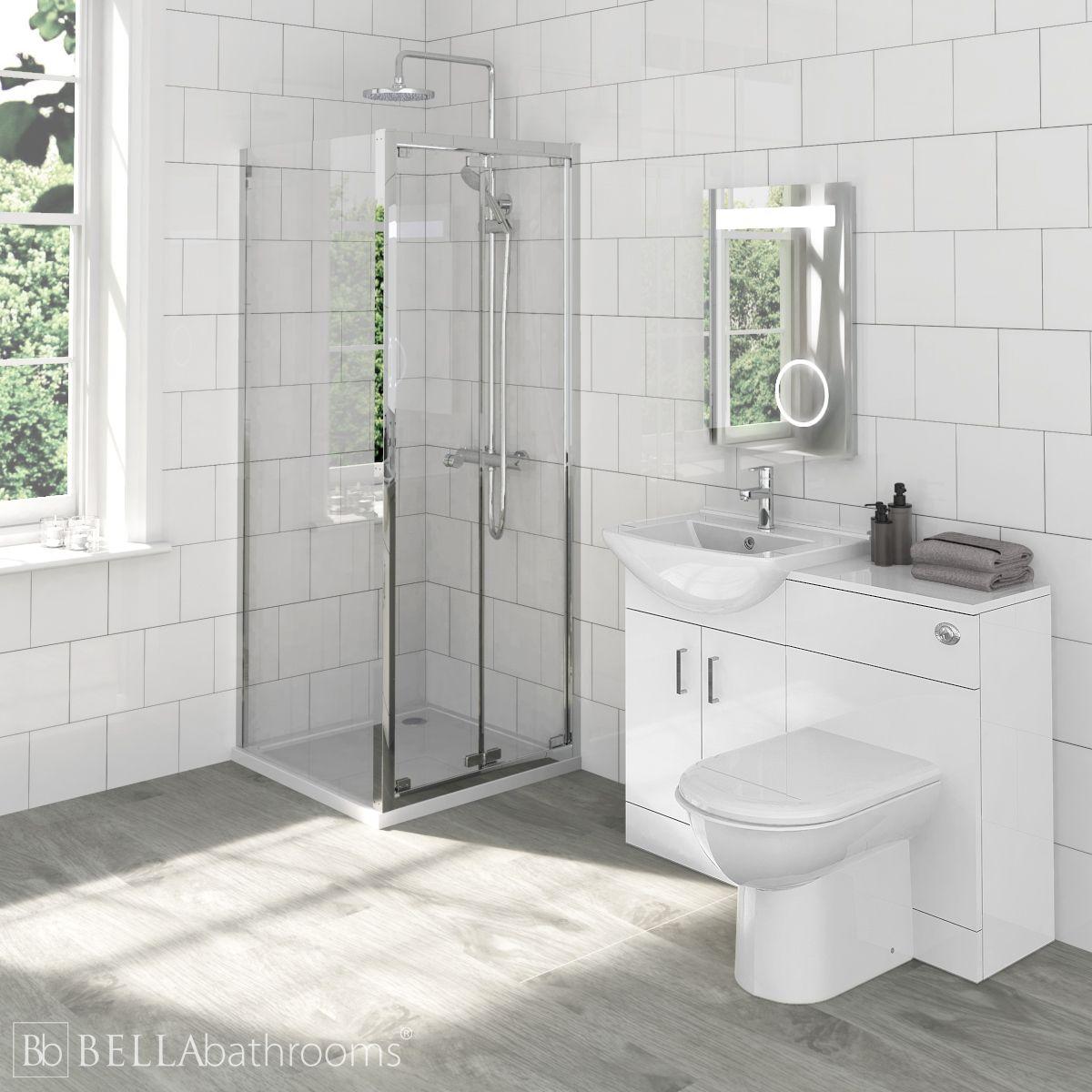 Madison Bathroom Furniture Pack with Ella Bi-Fold Shower Enclosure