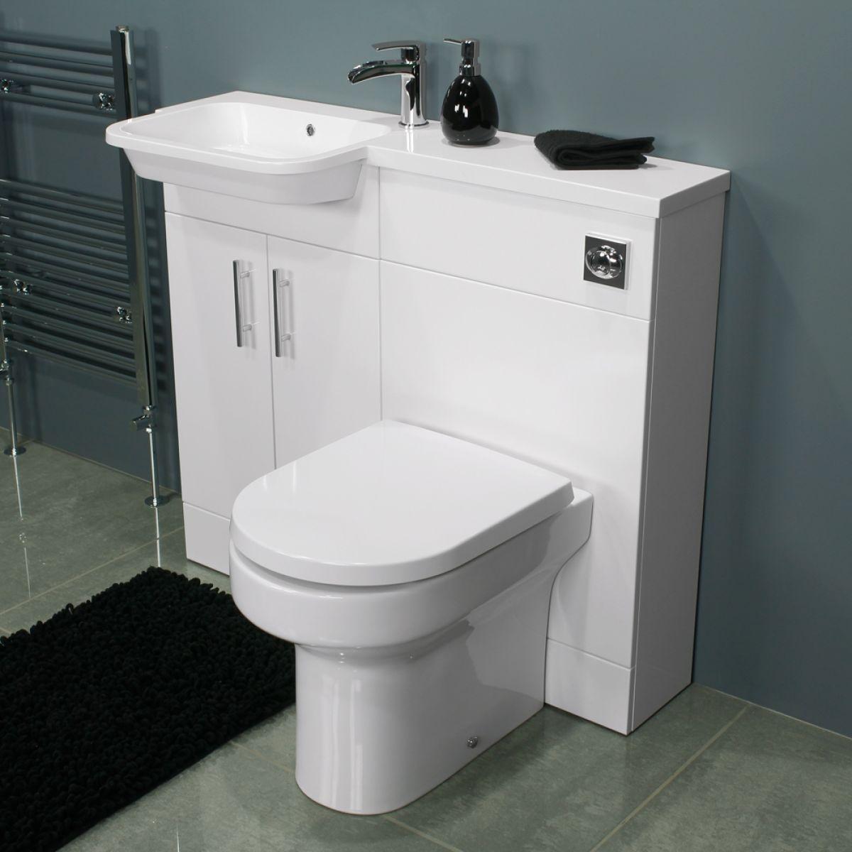 Cassellie Ria Gloss White L-Shape Combination Furniture Pack