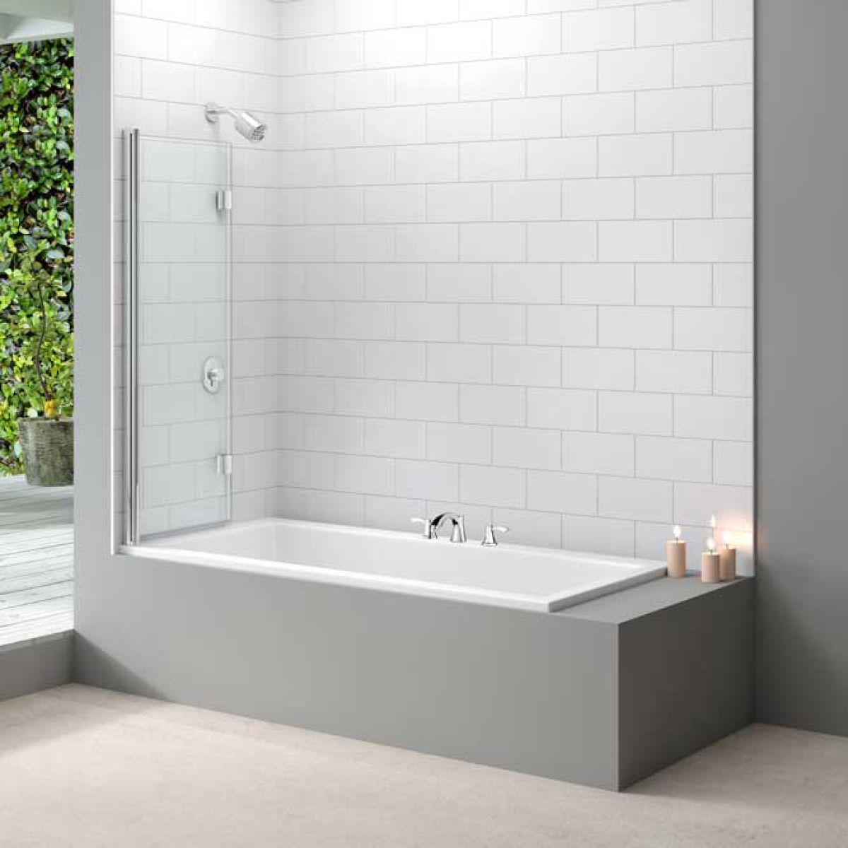 Merlyn Two Panel Folding Bath Screen