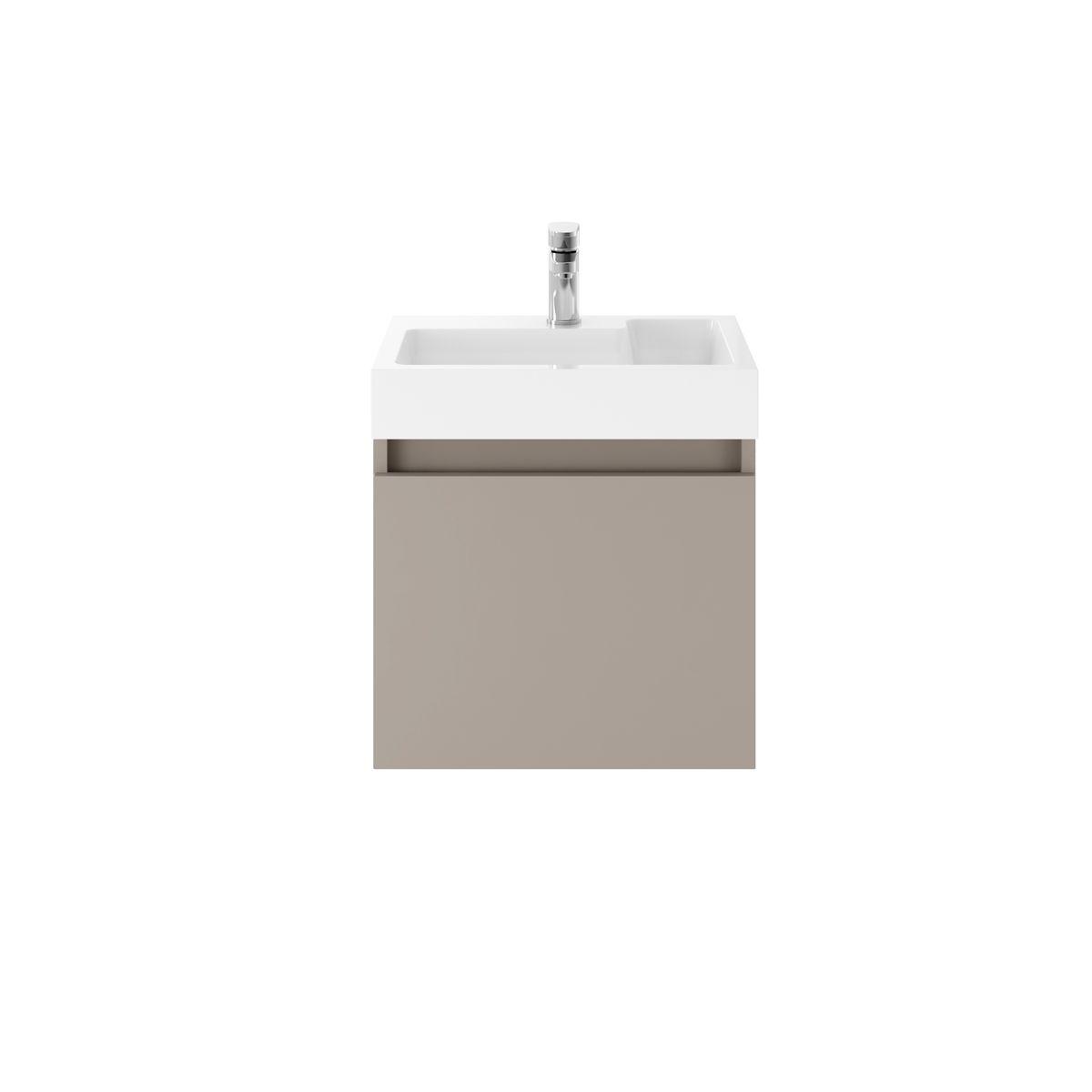 Nuie Merit Stone Grey Wall Hung Vanity Unit 500mm