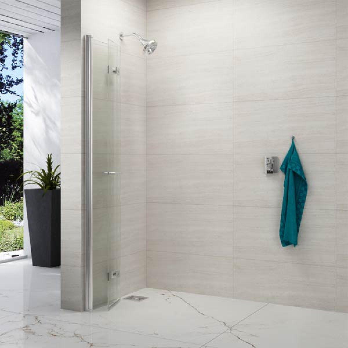 Merlyn Series 8 Frameless Hinged Bifold Wetroom