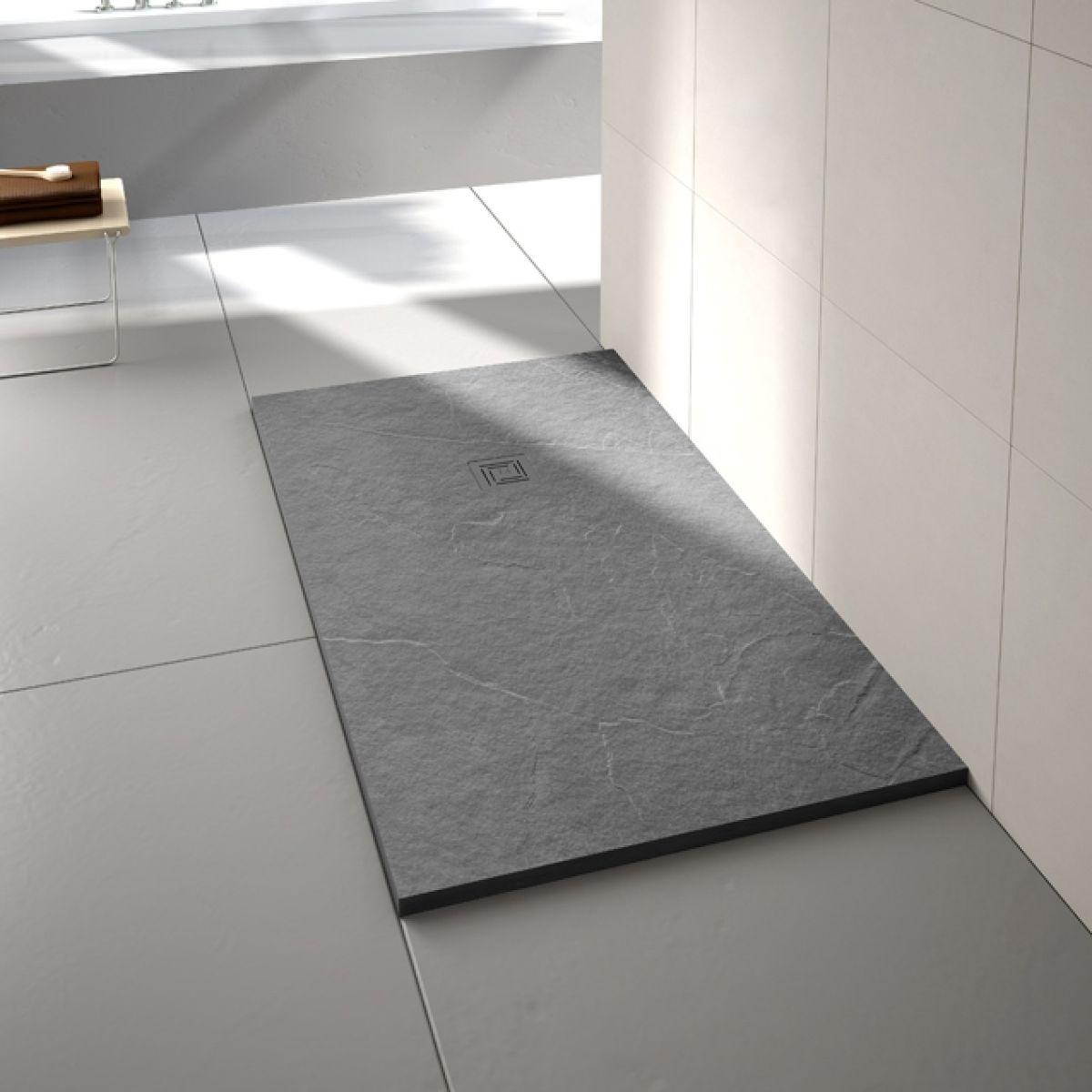 Merlyn Truestone Fossil Grey Rectangular Shower Tray 1600 x 800mm