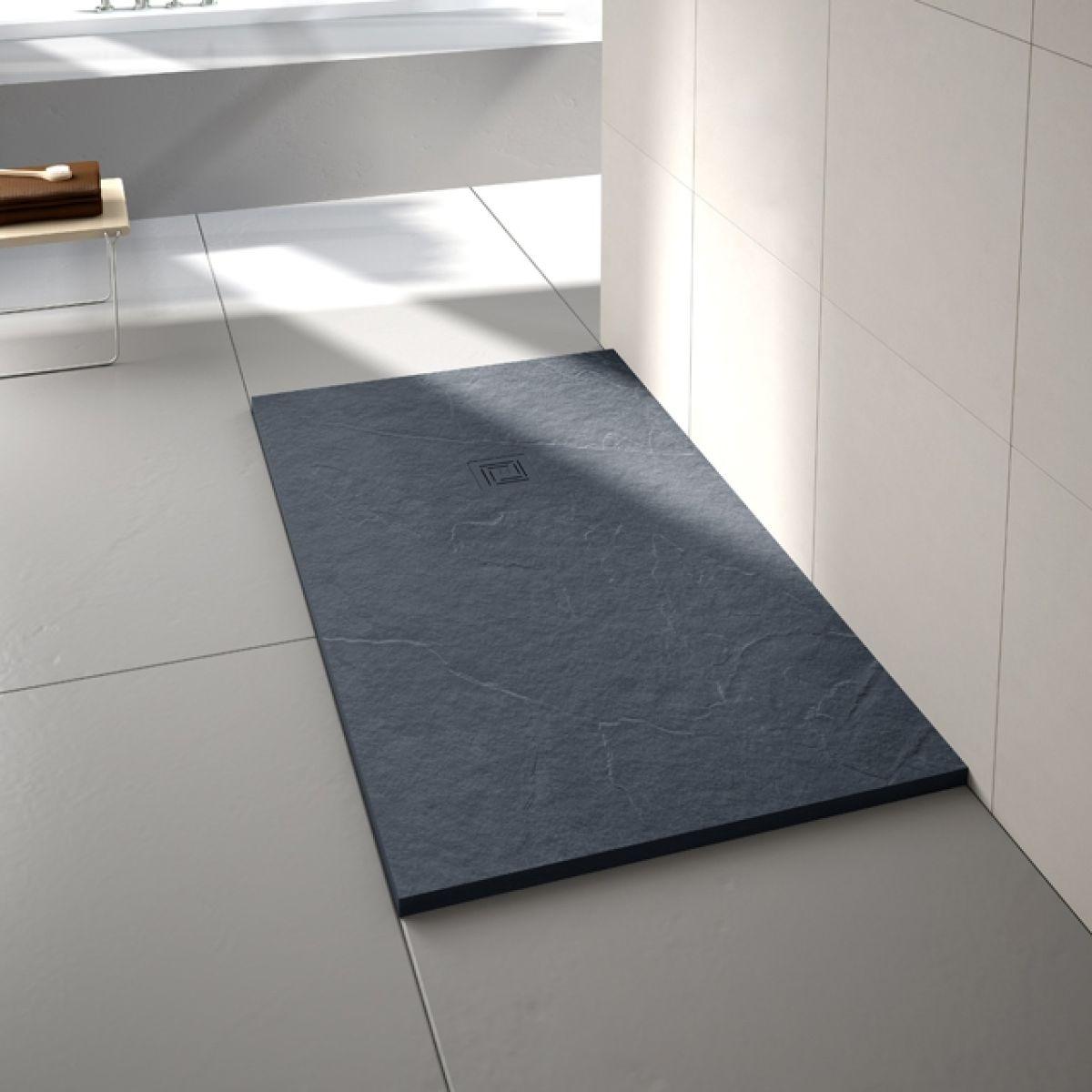 Merlyn Truestone Slate Black Rectangular Shower Tray 1000 x 800mm