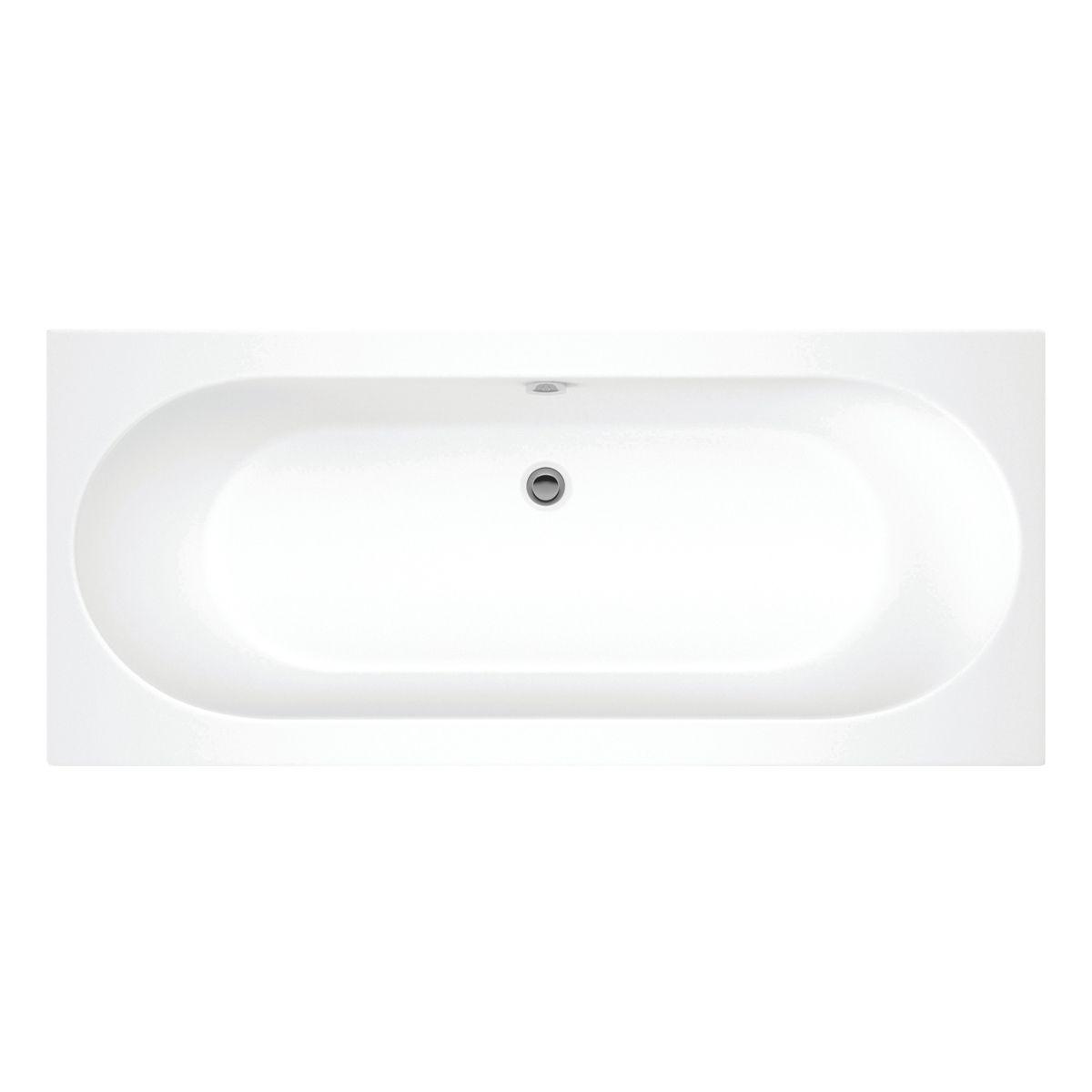 Moods Cascade Supercast Double Ended Whirlpool Bath 1800mm