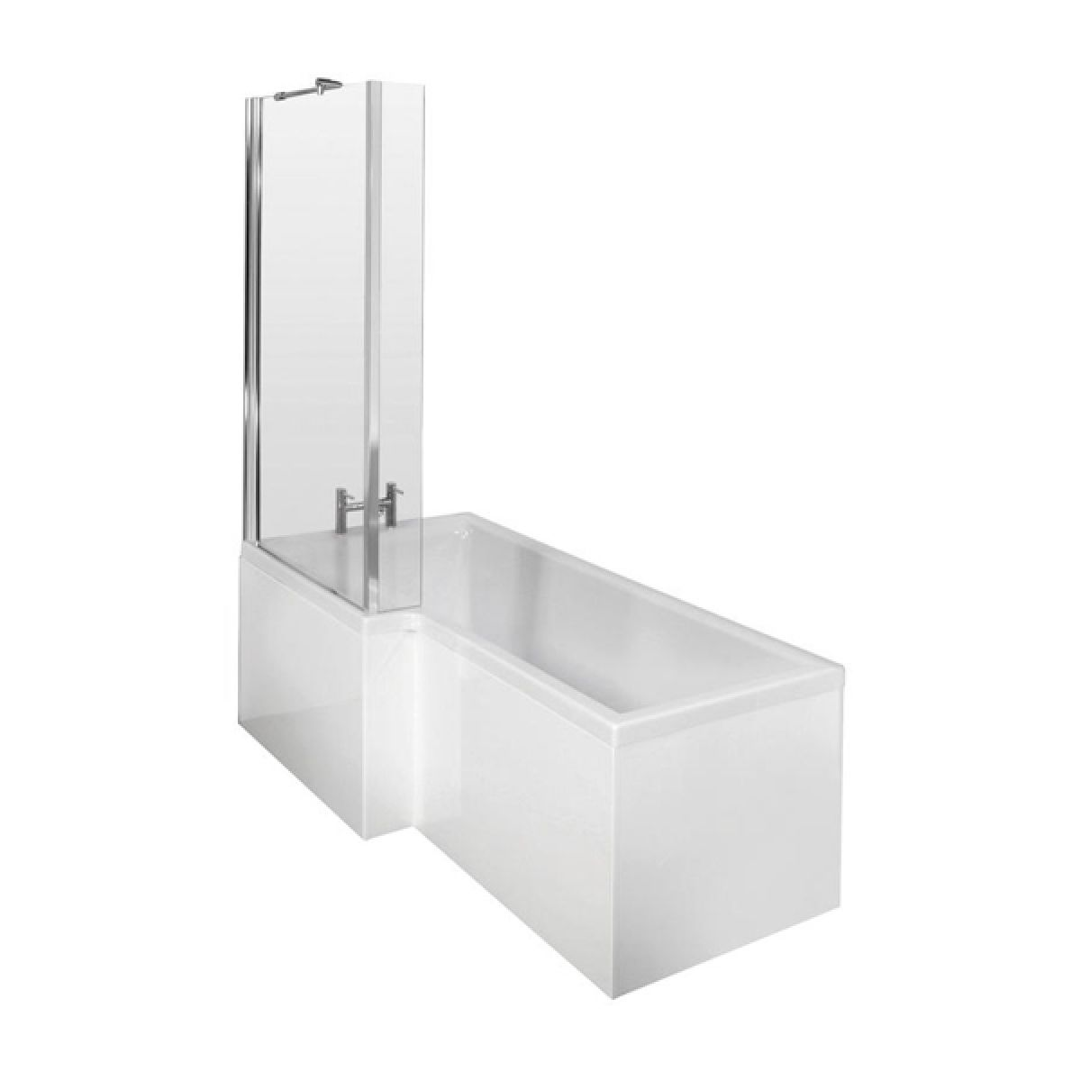 Niko L Shaped Left Hand Shower Bath 1700 x 700mm