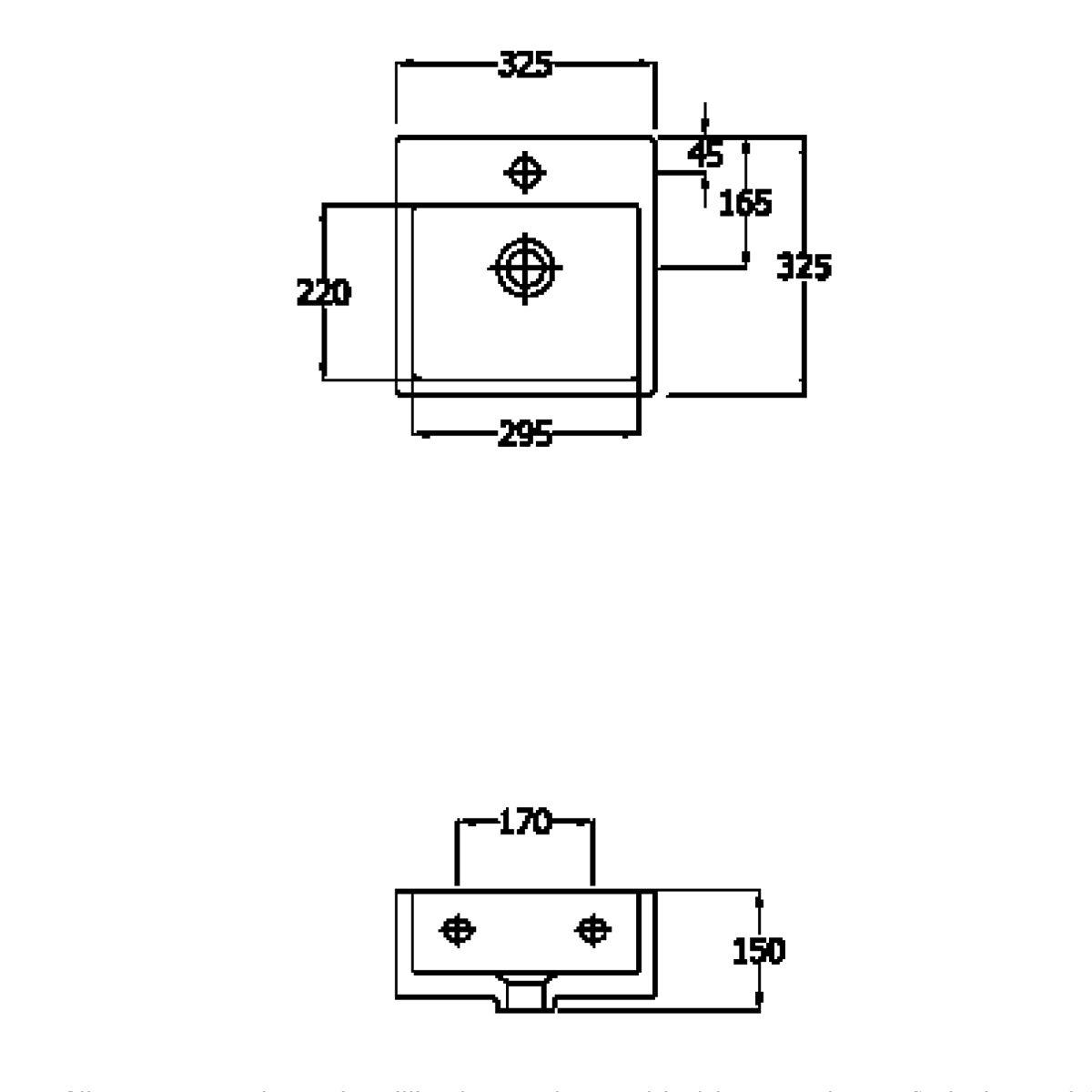 RAK Nova Mini 1 Tap Hole Basin Measurements