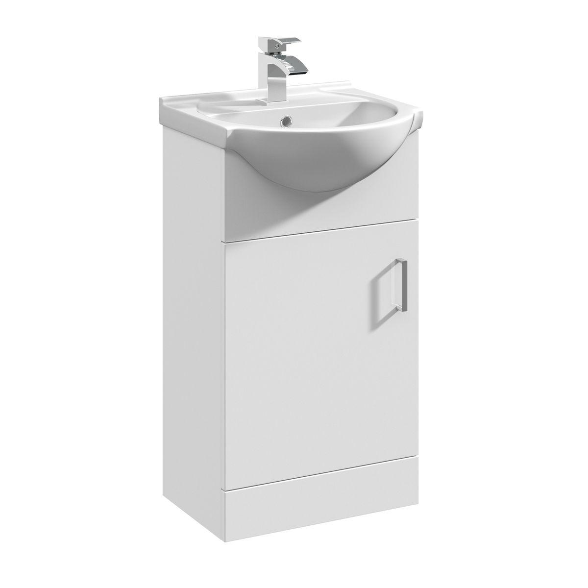 Nuie High Gloss White Vanity Unit 450mm