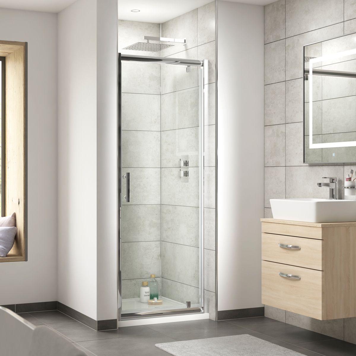 Nuie Pacific Pivot Shower Door Recess