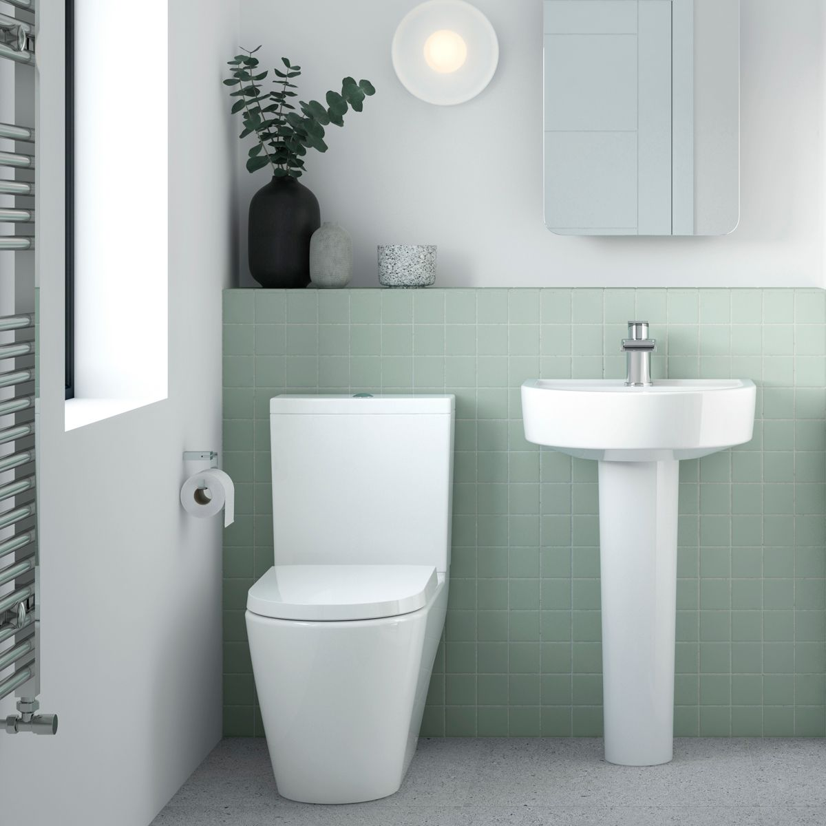 Nuie Provost Toilet and Basin Set