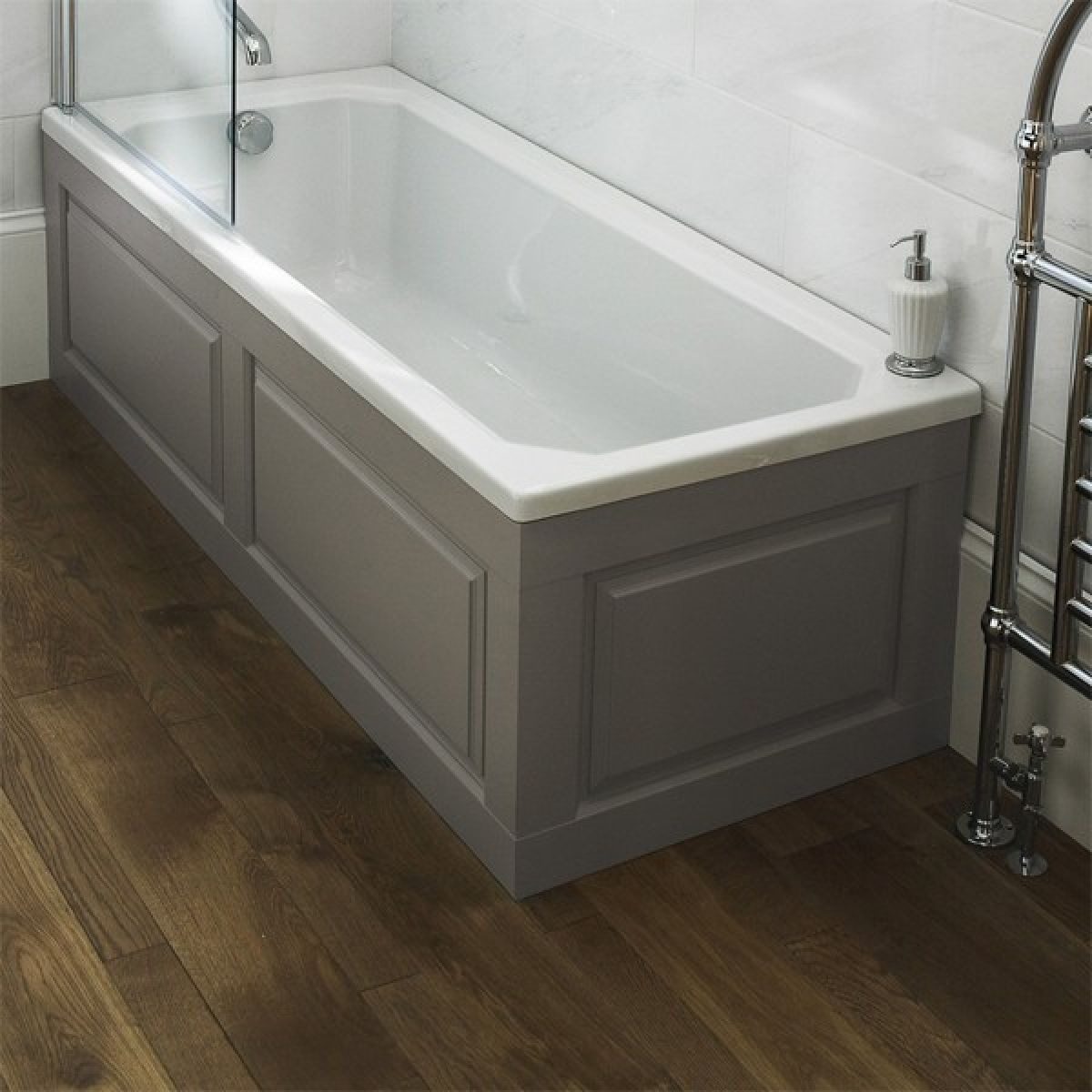 Old London Stone Grey End Bath Panel 750mm