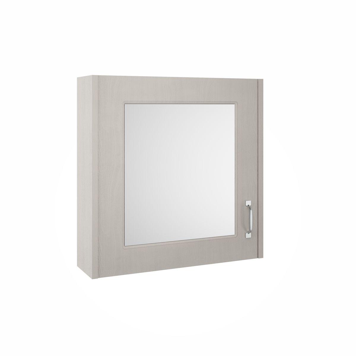 York Traditional Stone Grey Mirror Cabinet 600mm