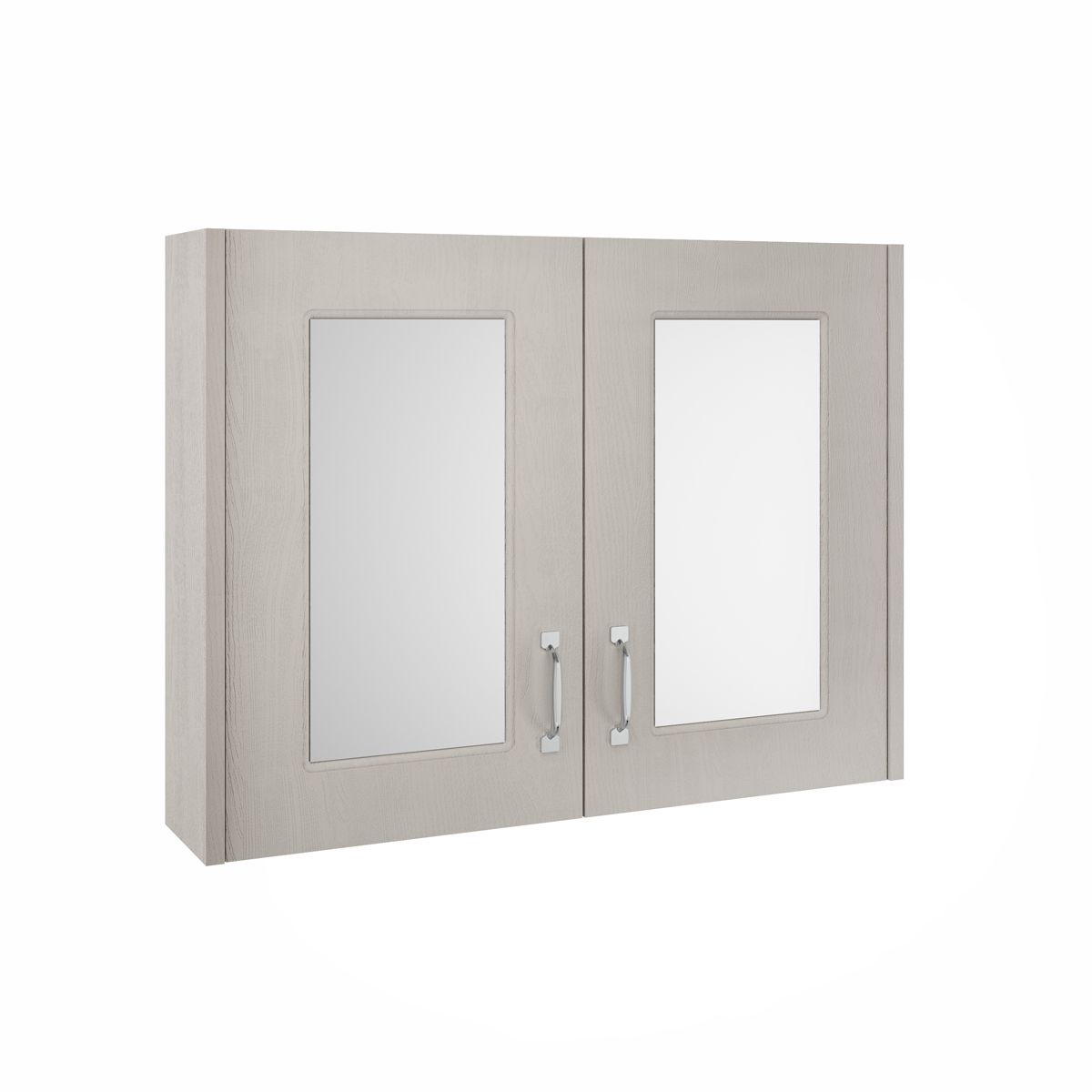 York Traditional Stone Grey Mirror Cabinet 800mm