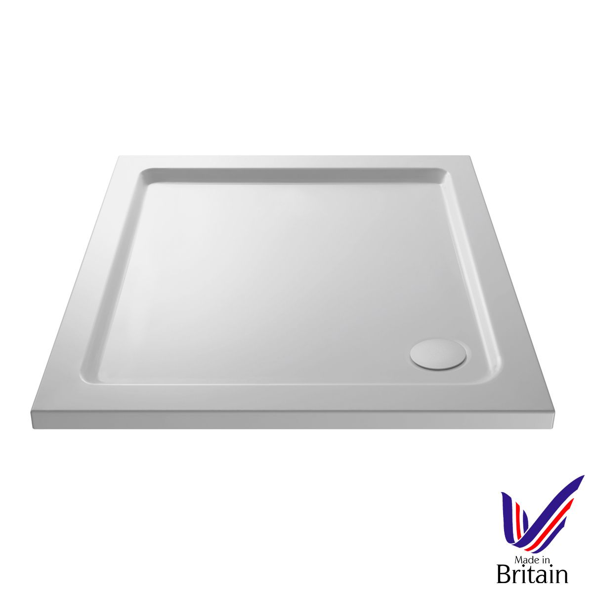 700 x 700 Shower Tray Square Low Profile by Pearlstone