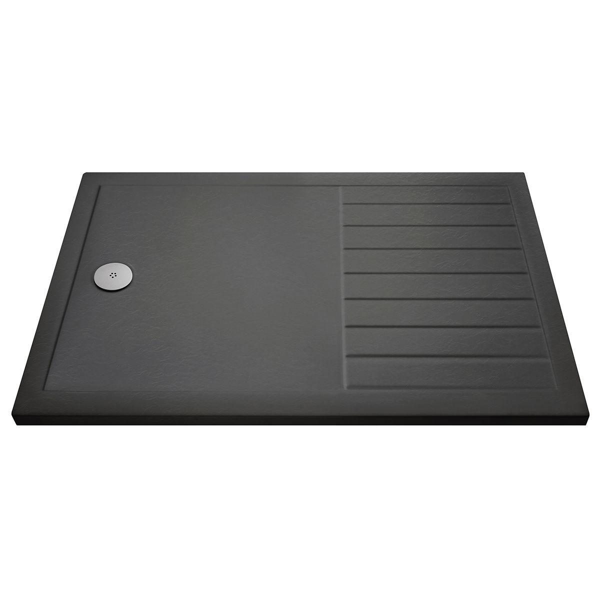 Pearlstone Slate Grey Rectangular Walk-In Shower Tray 1600 x 800mm