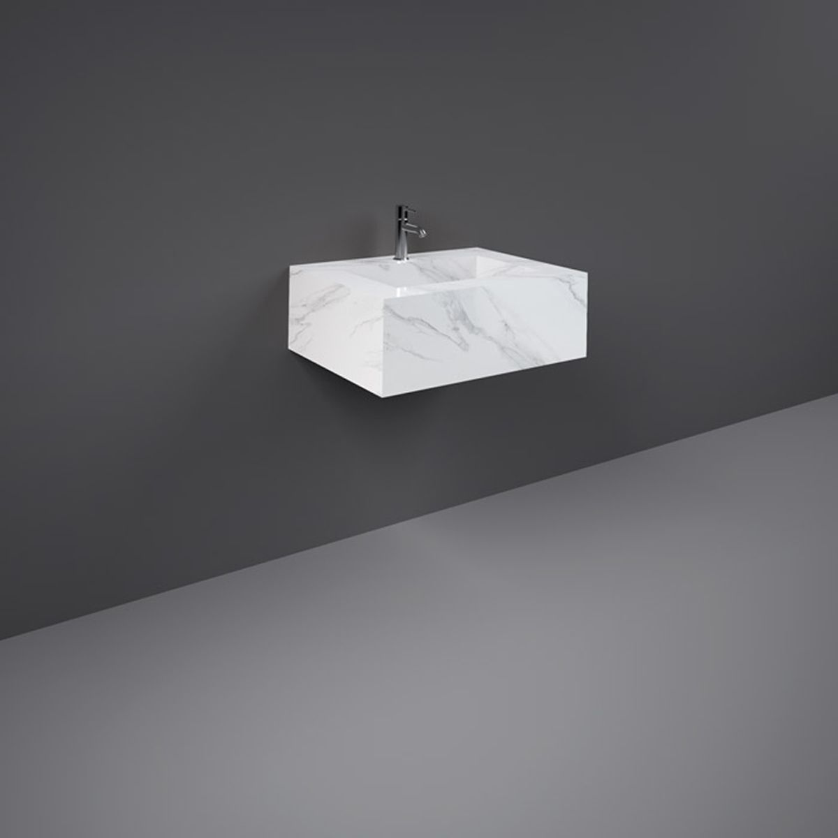RAK Precious Carrara Wall Hung Counter Basin with Bracket