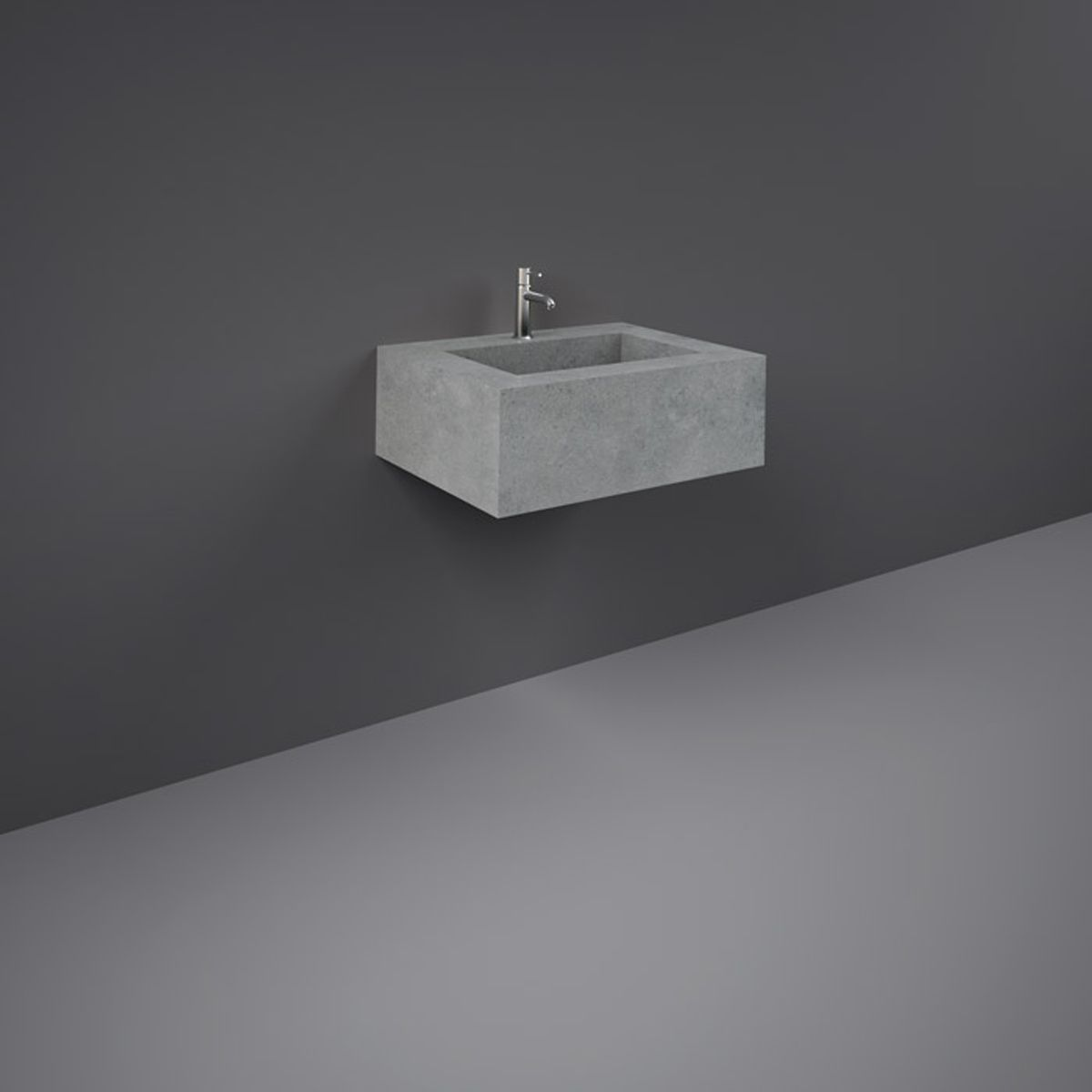 RAK Precious Surface Cool Grey Wall Hung Counter Basin with Bracket