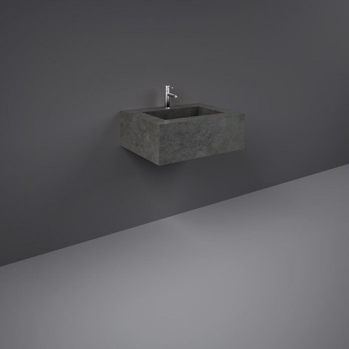 RAK Precious Behind Grey Wall Hung Counter Basin with Brackets