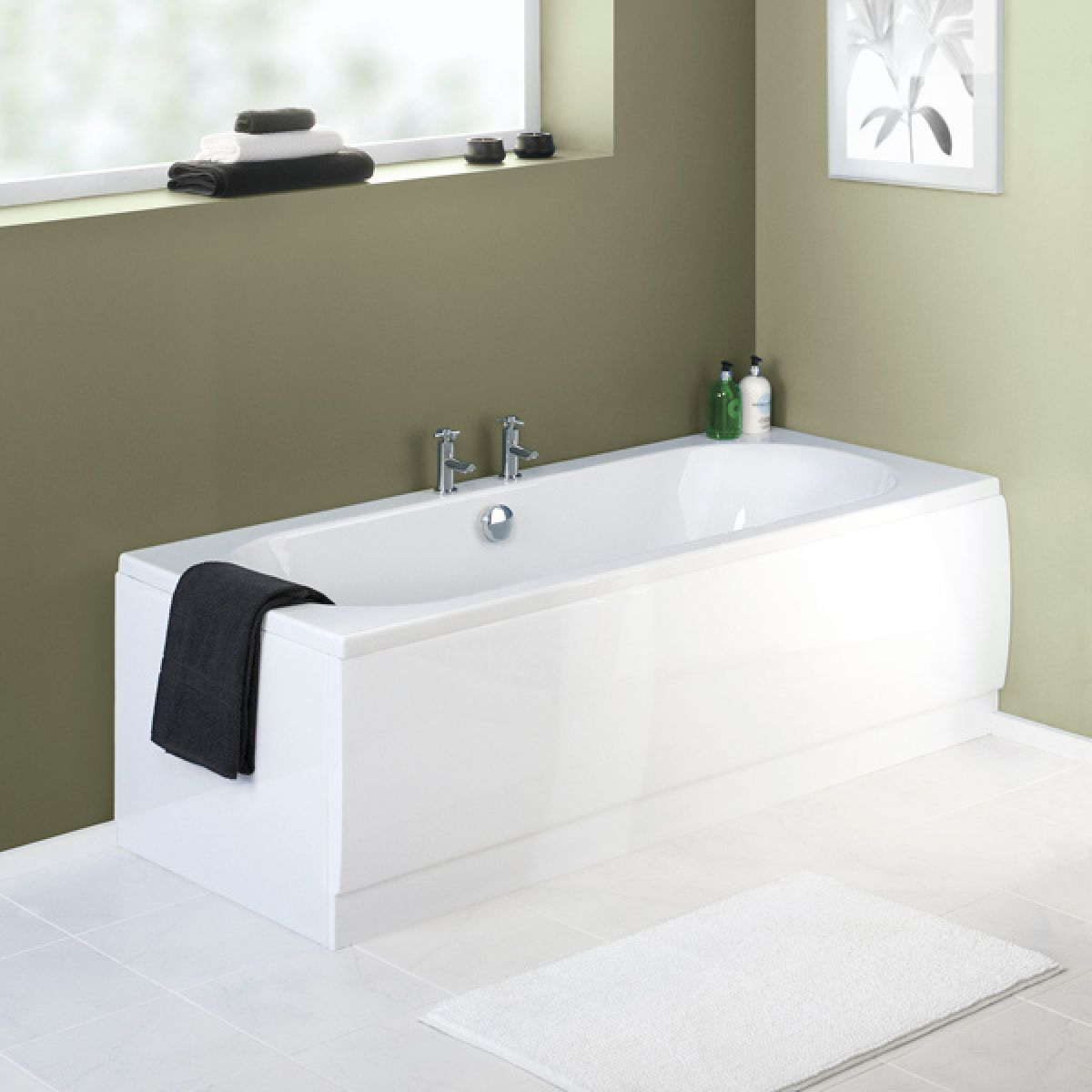 Premier Acrylic White End Bath Panel 800mm
