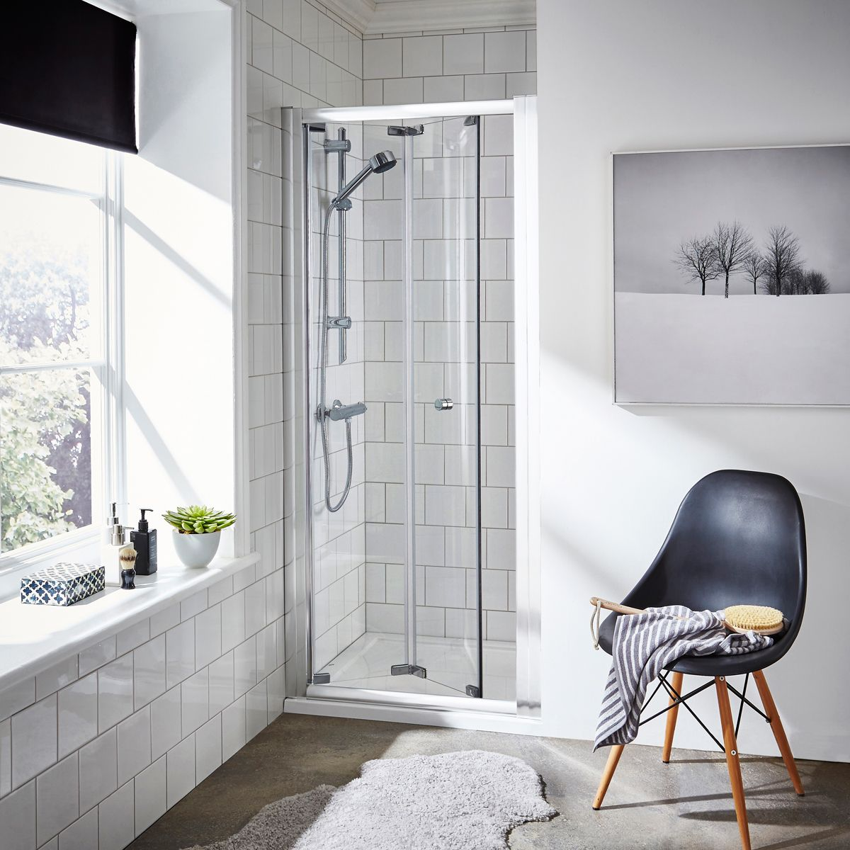 Premier Ella Bi Fold Shower Enclosure Recess