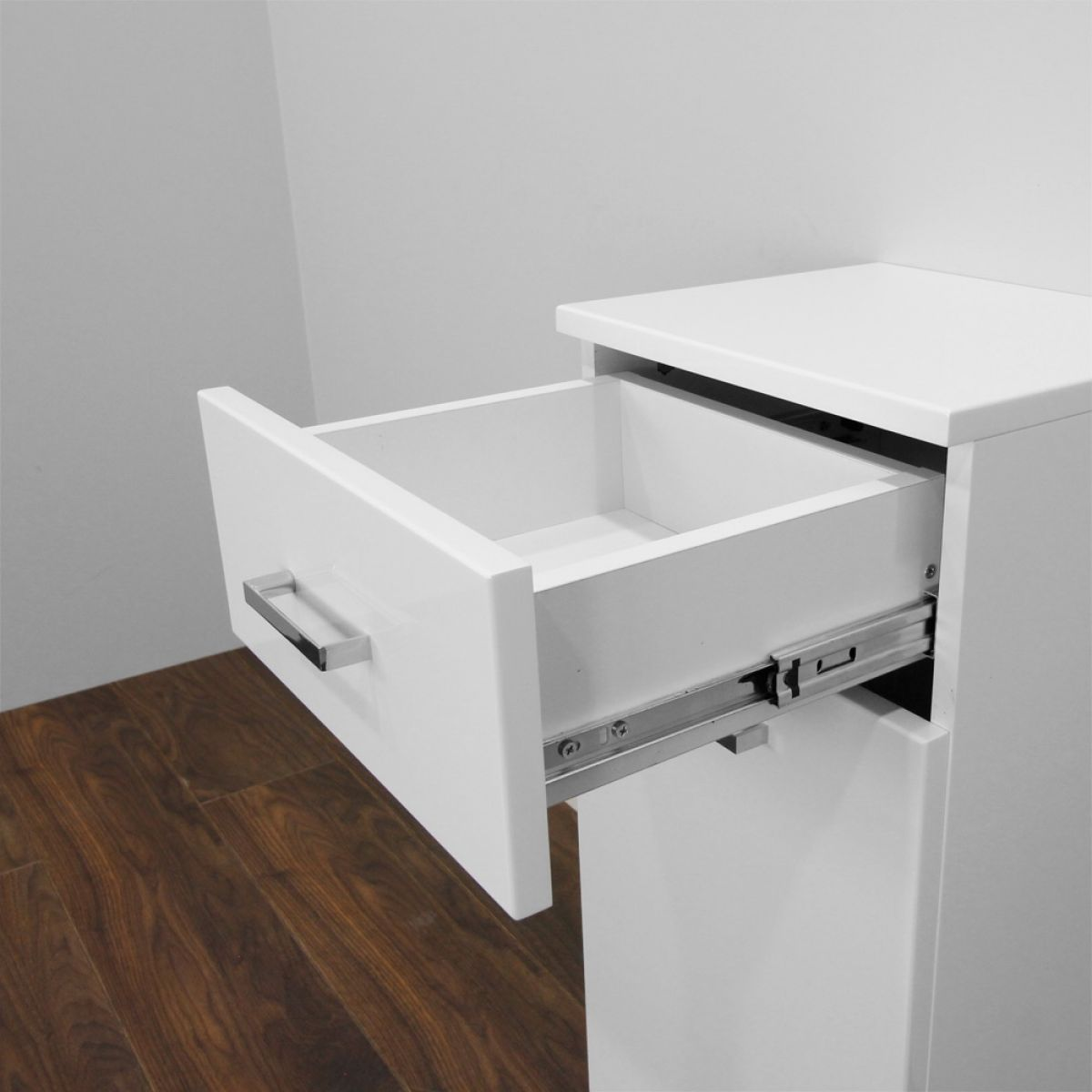 Premier High Gloss White Laundry Basket - Drawer