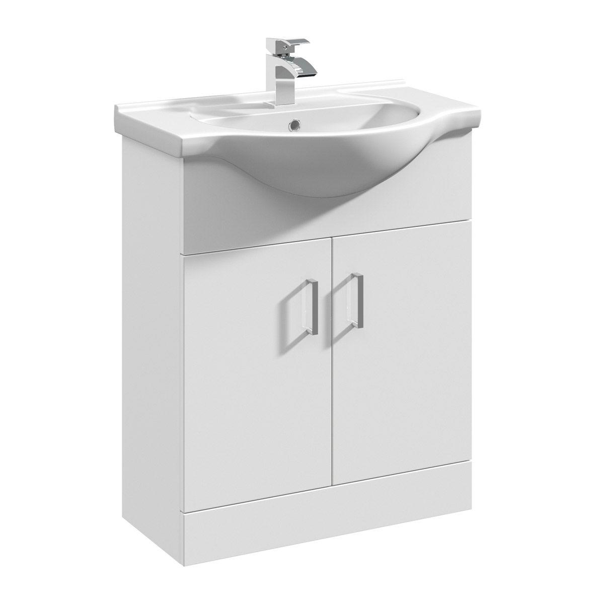 Premier High Gloss White Vanity Unit 650mm