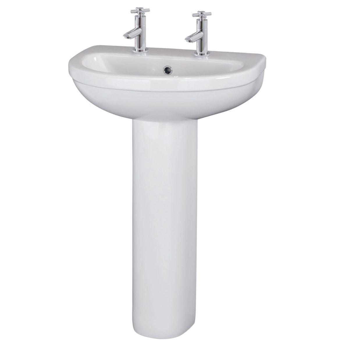 Premier Ivo Basin with Pedestal 550mm - 1 Tap Hole