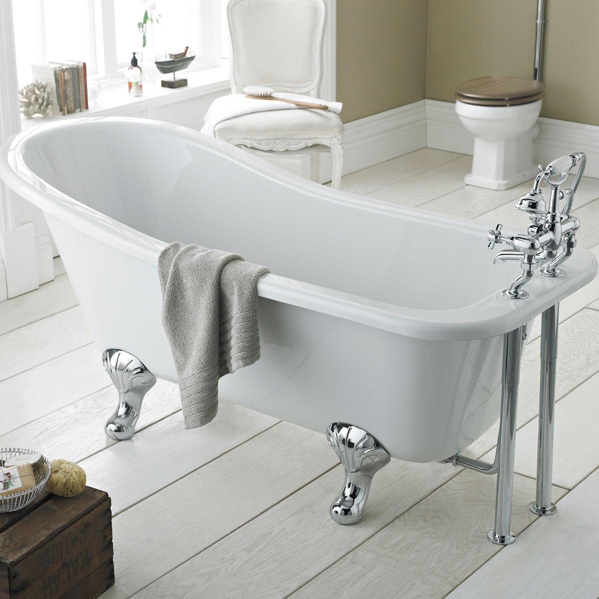 Hudson Reed Kensington Freestanding Slipper Bath with Leg Set