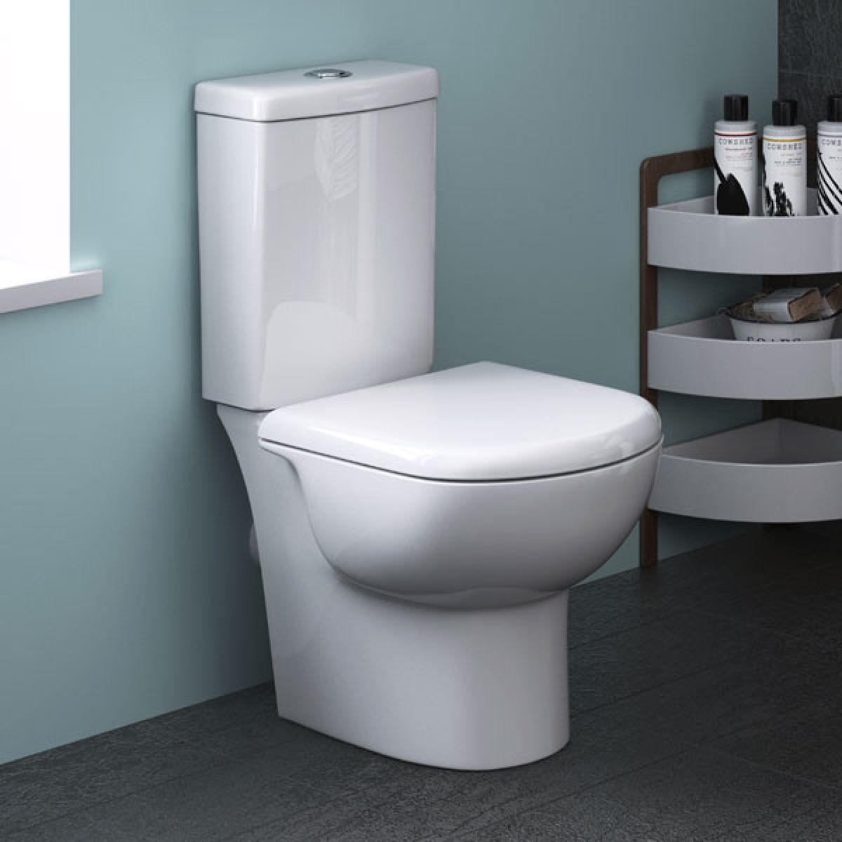 Premier Knedlington Short Projection Toilet Premier Knedlington Short Projection Toilet with Soft Close Seat