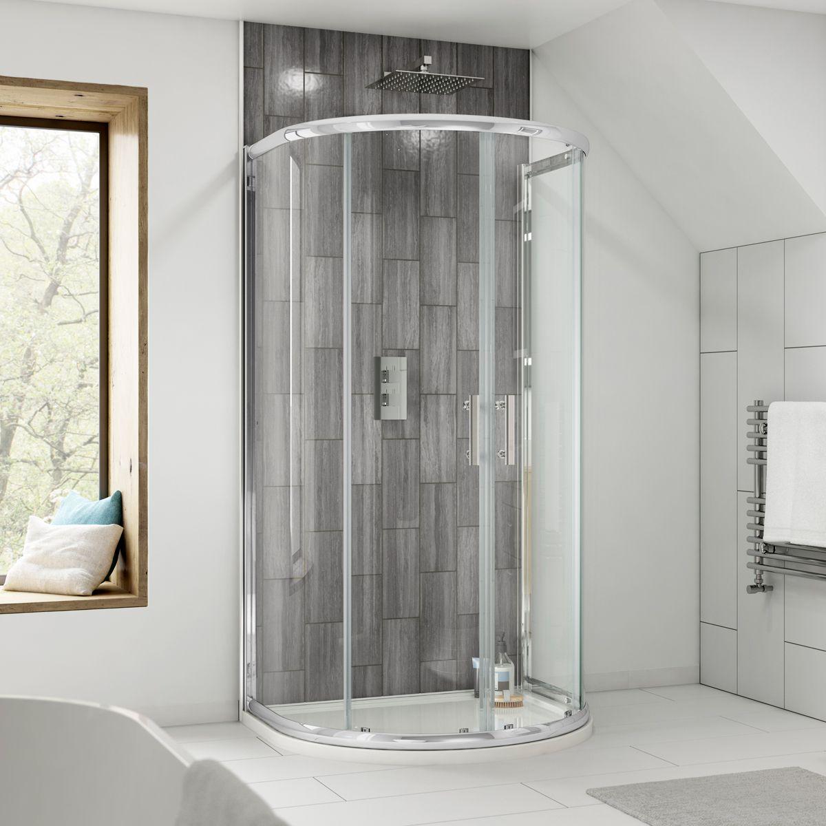 Nuie Pacific D Shaped Shower Enclosure 1050mm