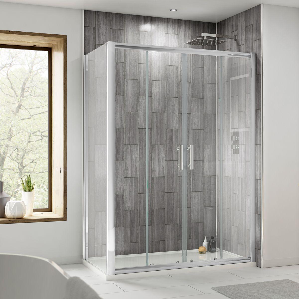 Premier Pacific Double Door Sliding Shower Enclosure