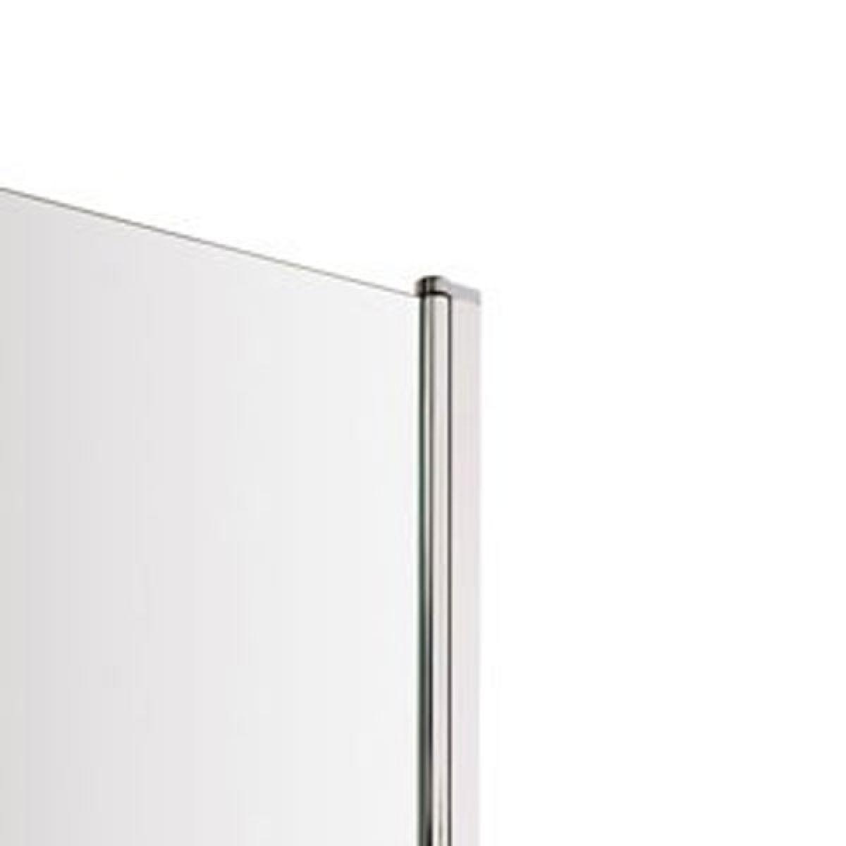 Premier Straight Square Edge Bath Screen with Rail