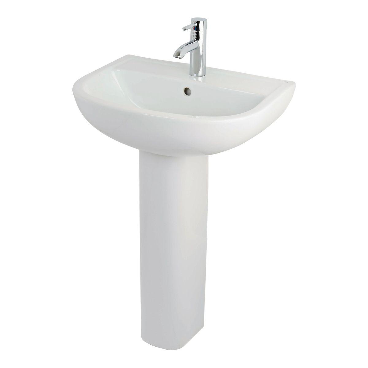 RAK Compact 1 Tap Hole basin with Full Pedestal