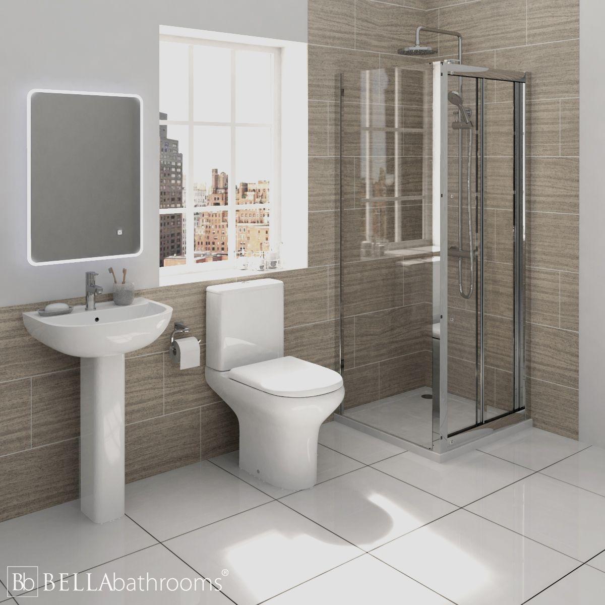 RAK Compact Shower Suite with Pacific Bi-Fold Door Shower Enclosure