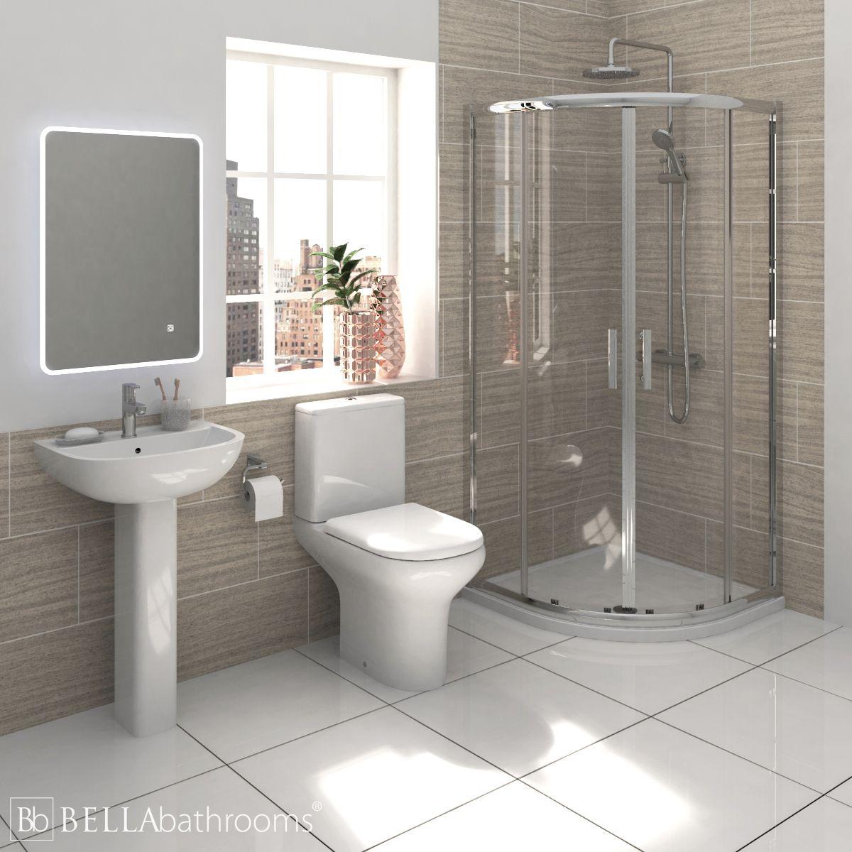 RAK Compact Shower Suite with Pacific Quadrant Shower Enclosure