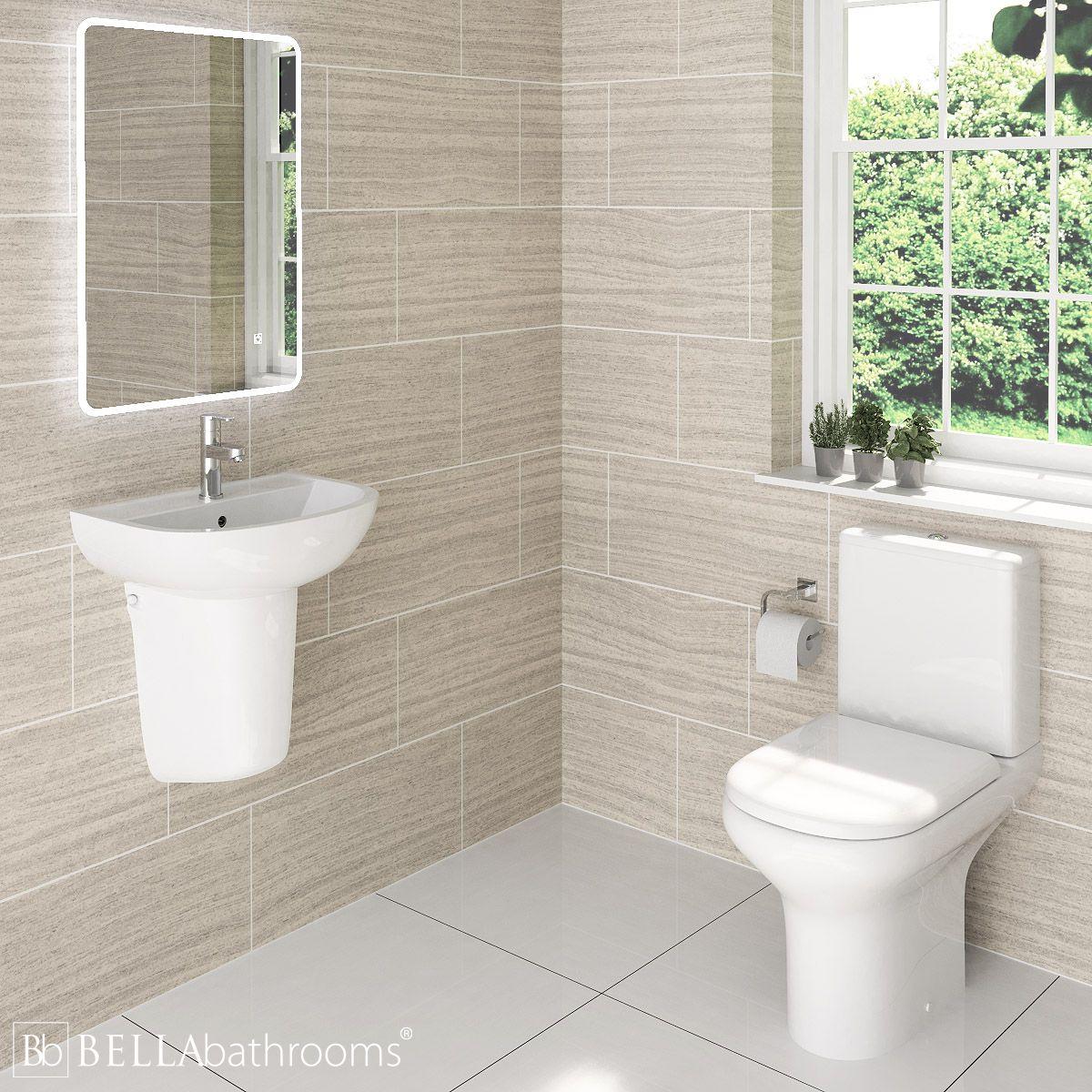 RAK Compact Cloakroom Suite with Semi Pedestal Basin