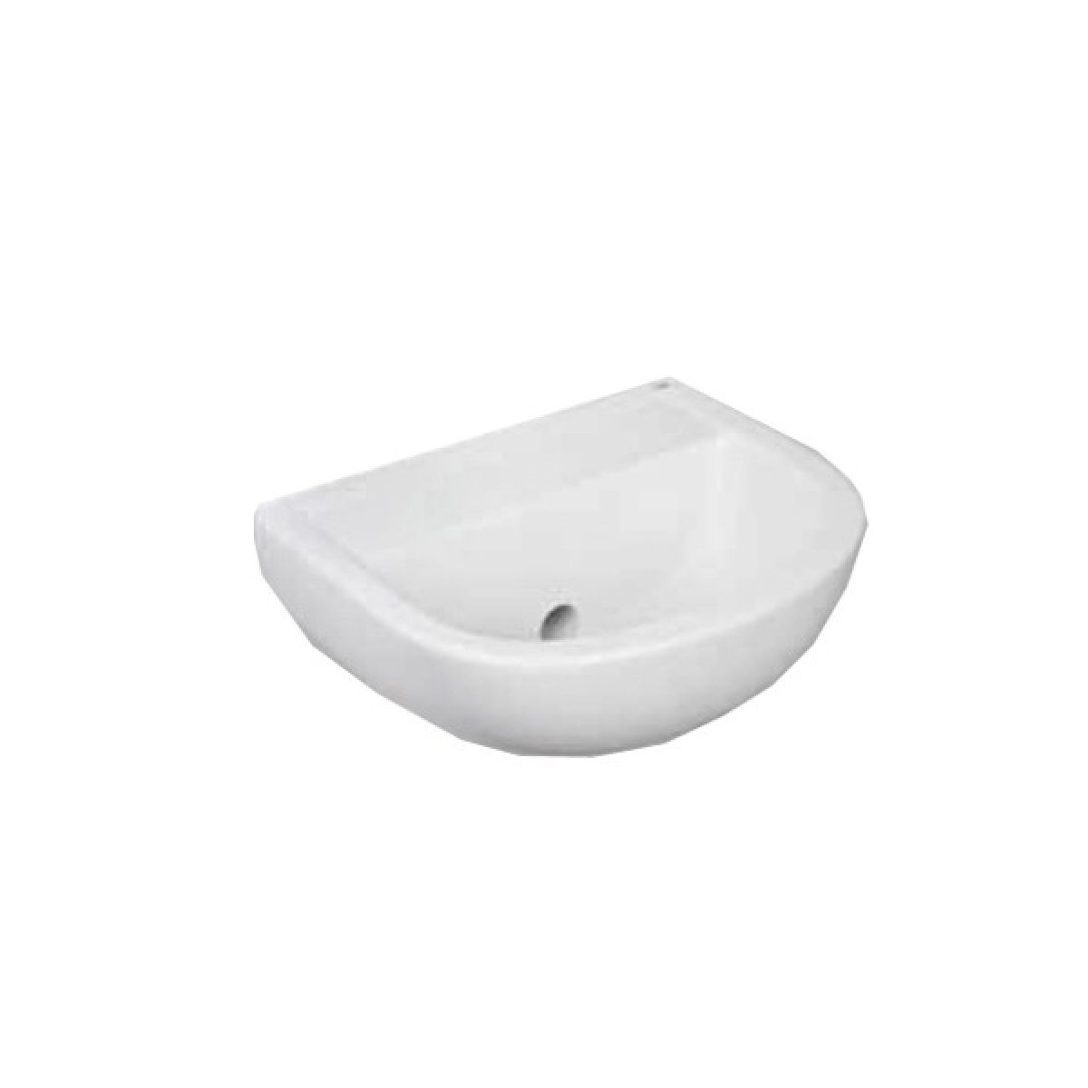 RAK Compact Special Needs Horizontal Outlet 0 Tap Hole Basin 380mm