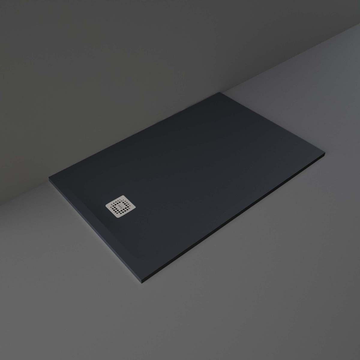 RAK Feeling Black Rectangular Shower Tray 1400 x 800mm