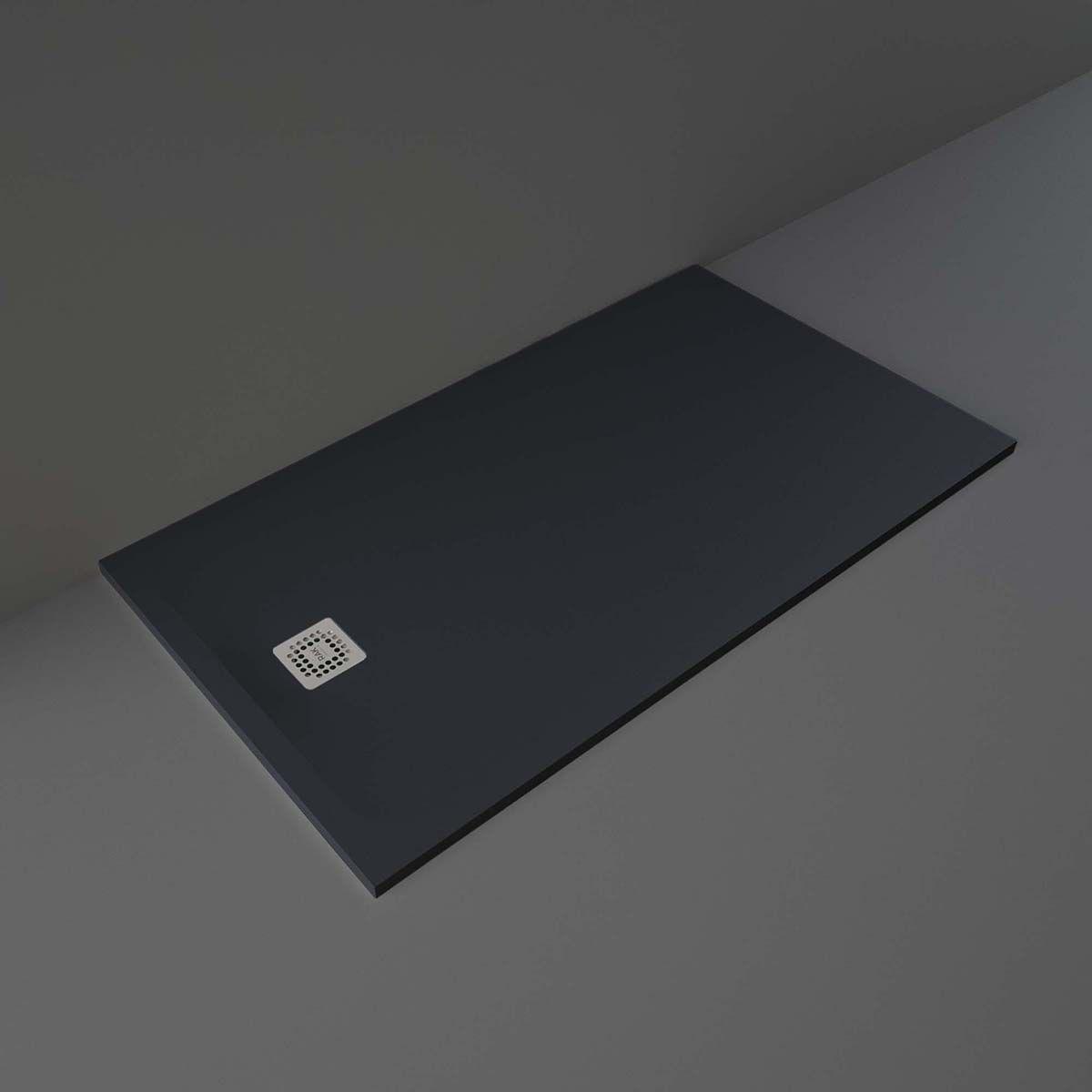 RAK Feeling Black Rectangular Shower Tray 1600 x 900mm