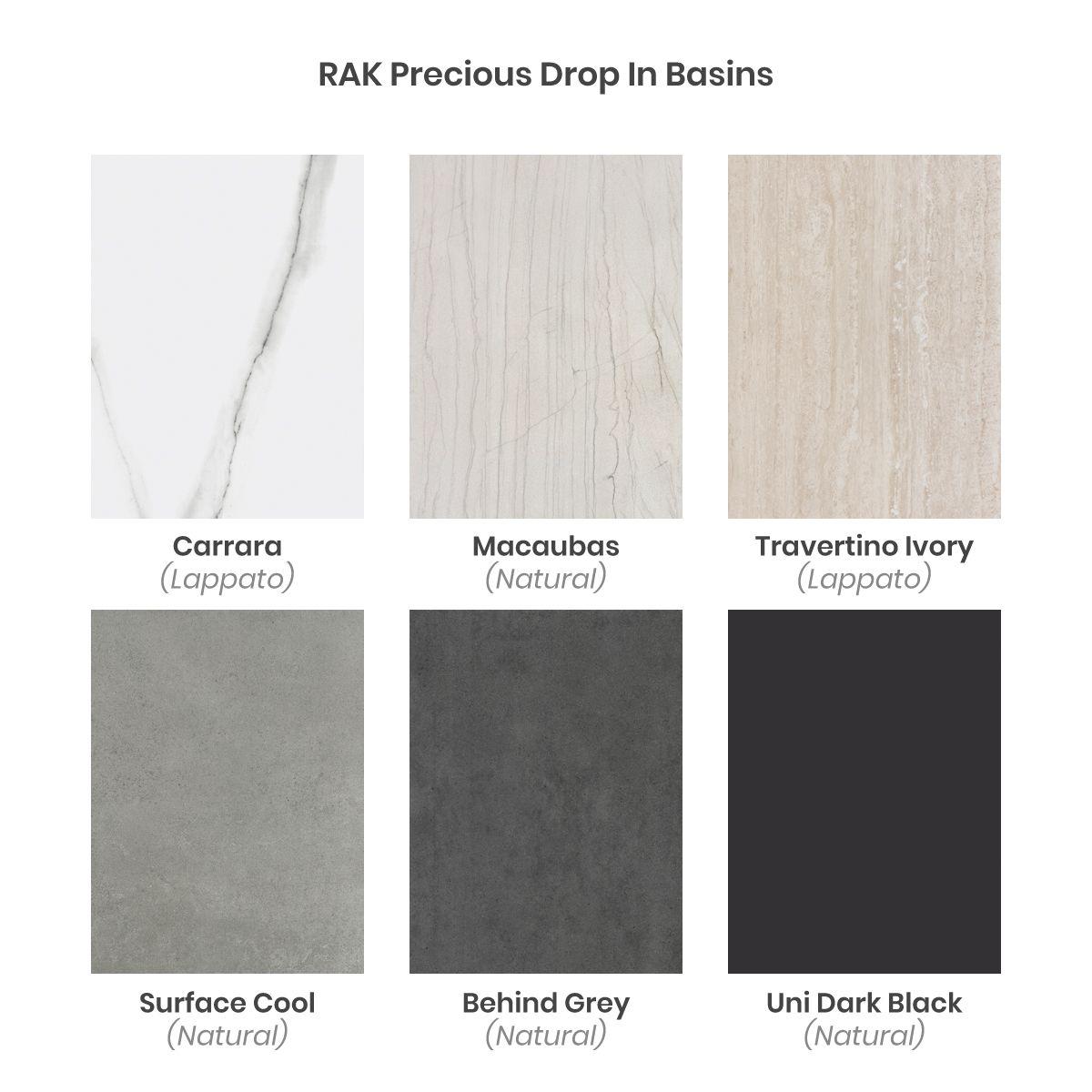 Basin Colour Options