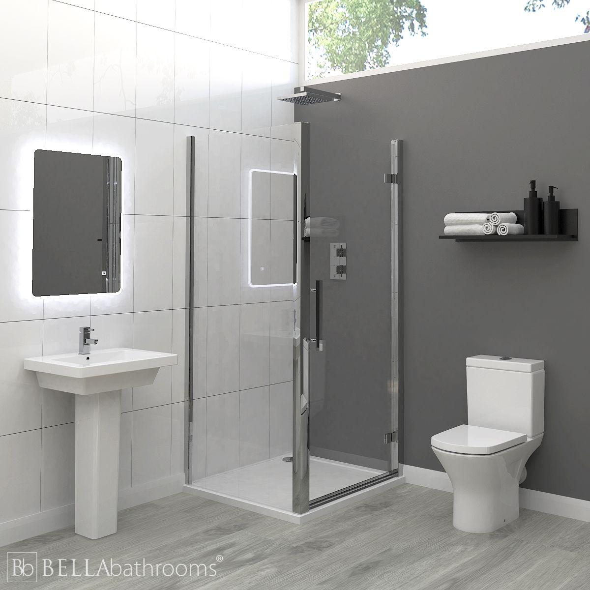 RAK Resort Ensuite Bathroom with Apex Hinged Shower Enclosure