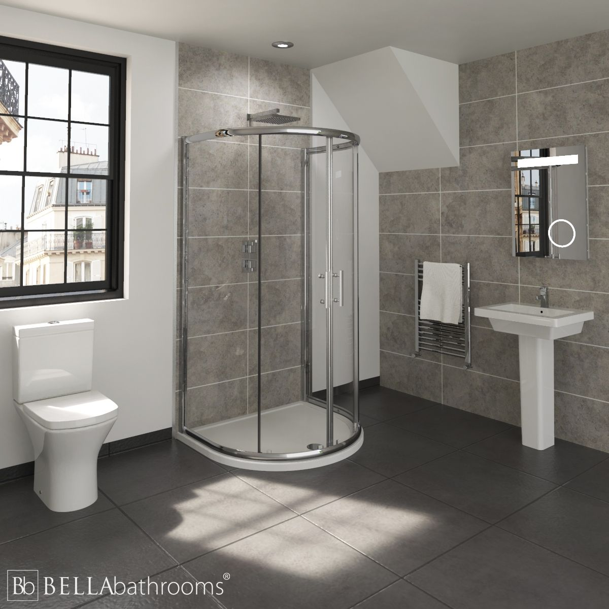 RAK Resort En-Suite with D Shaped Shower Enclosure