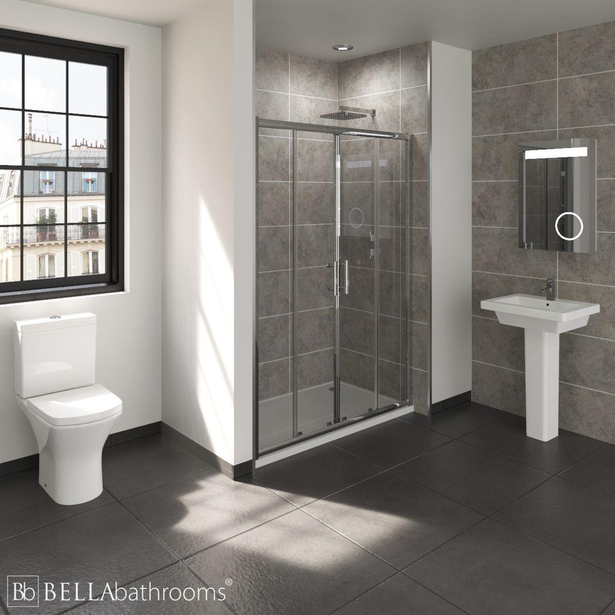 RAK Resort En-Suite with Double Sliding Door Shower Enclosure Recess