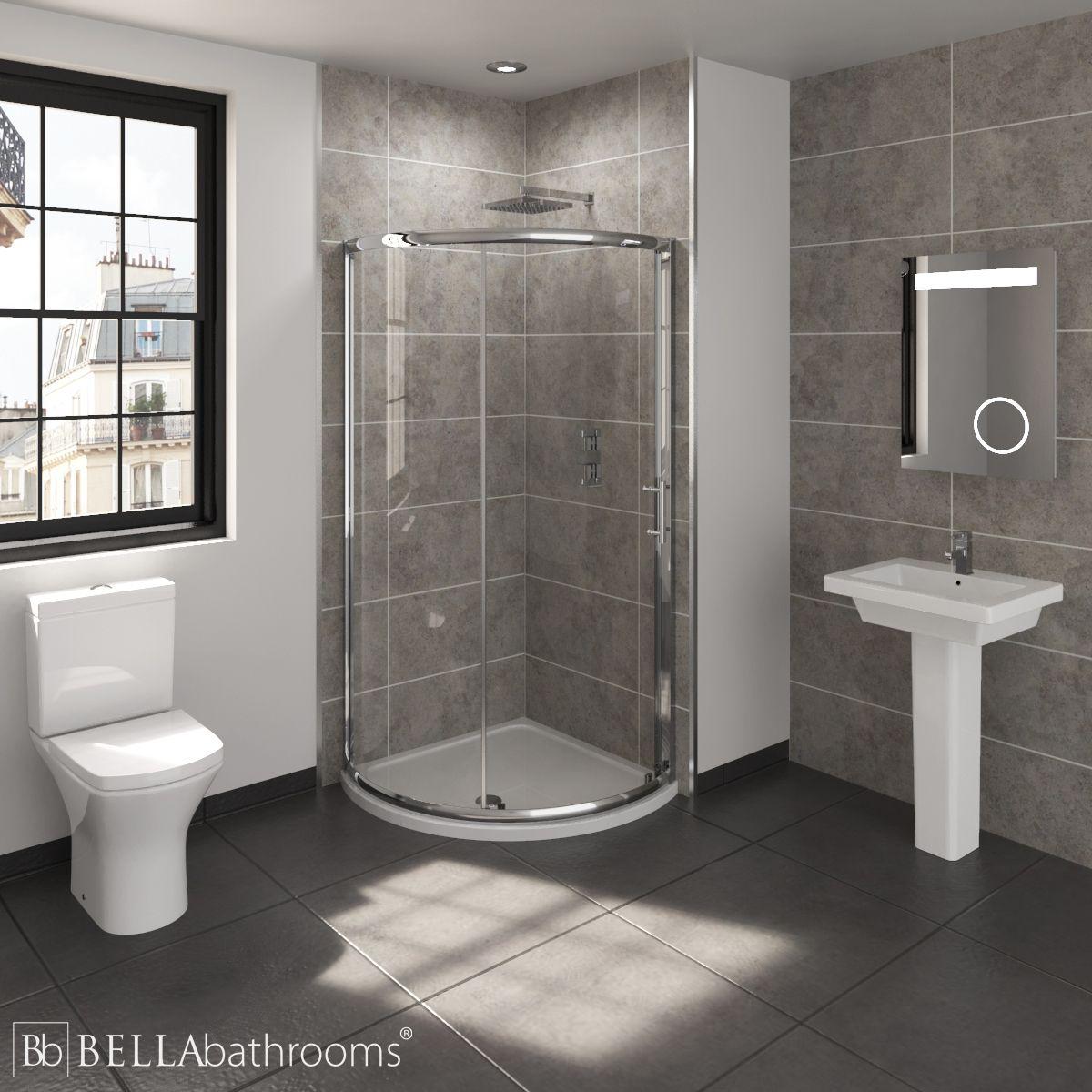 RAK Resort En-Suite with Single Door Quadrant Shower Enclosure