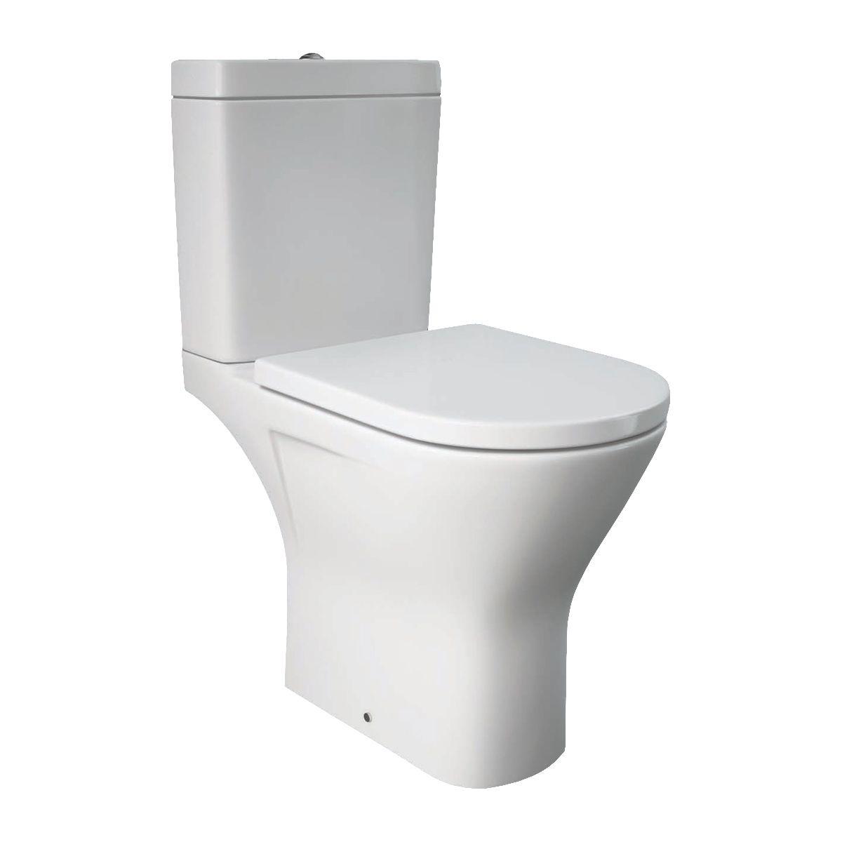 RAK Resort Mini Full Access Rimless Close Coupled Toilet