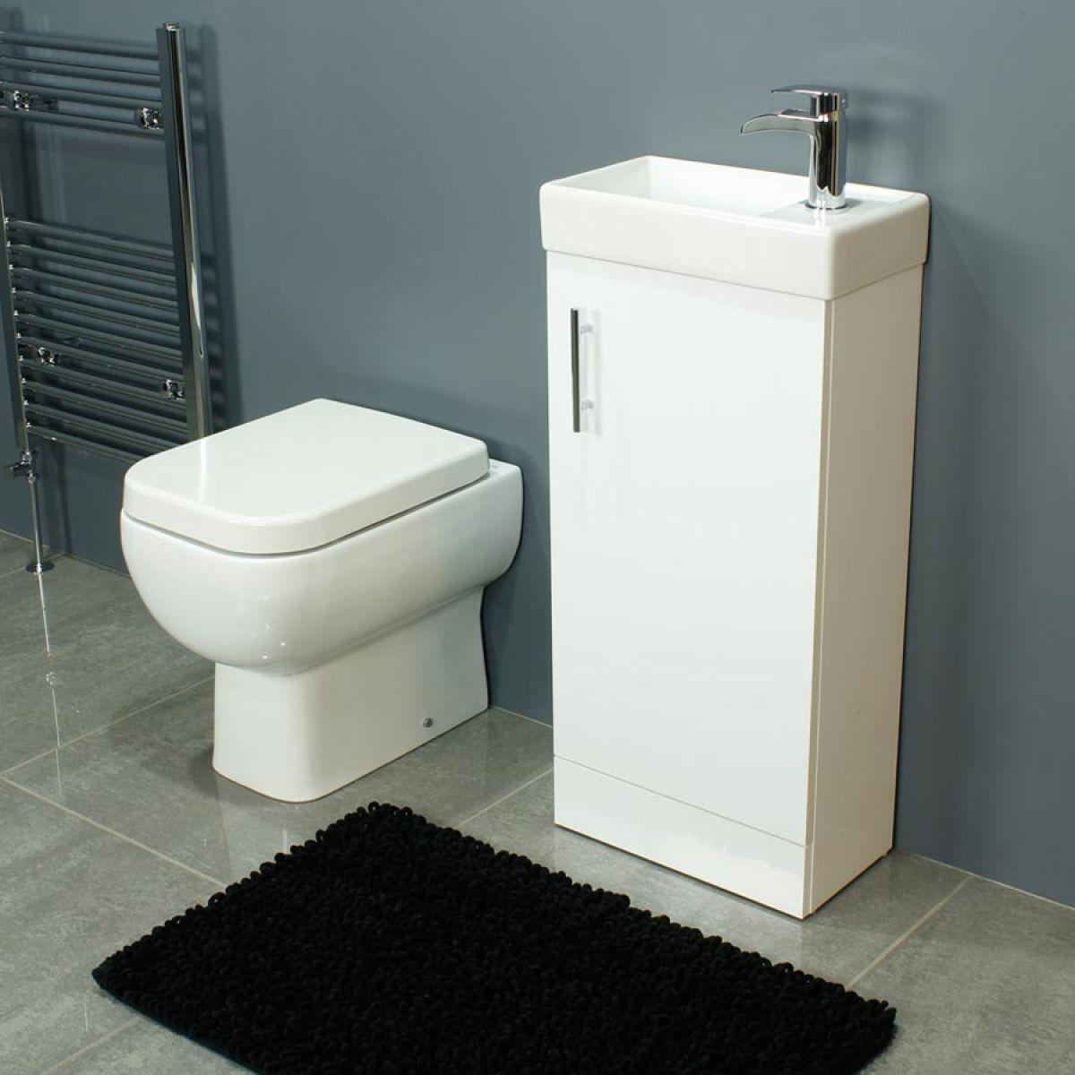RAK Series 600 Back To Wall Toilet and 400 Series Gloss White Vanity Unit