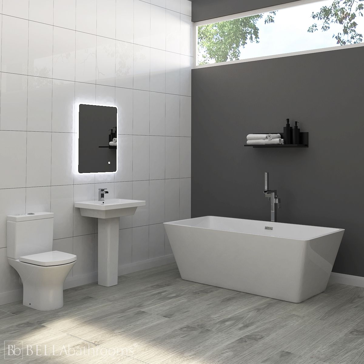 RAK Resort Bathroom Suite with Boston Freestanding Bath