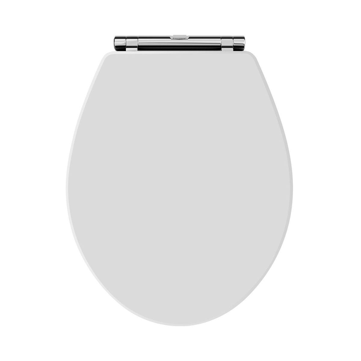 Hudson Reed Richmond Soft Close Toilet Seat White Chrome Hinges