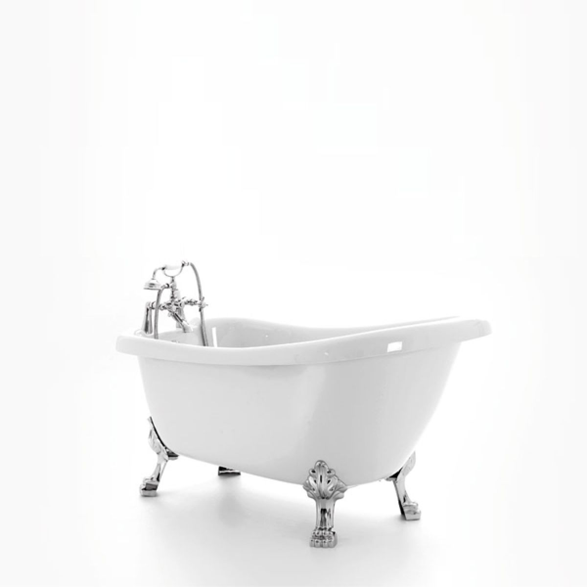 Royce Morgan Crystal White Freestanding Bath