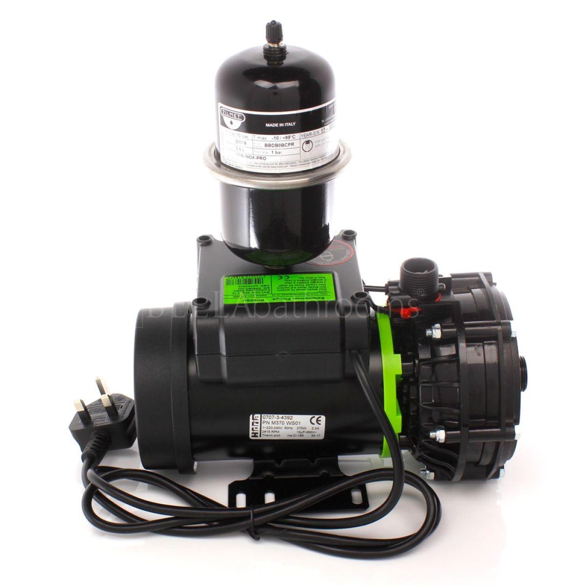 Salamander RP80SU 2.4 Bar Single Universal Whole House Shower Pump Back